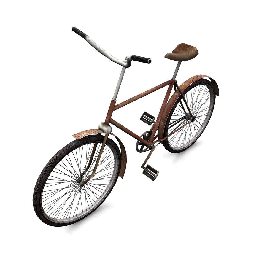 Old bicycle royalty-free 3d model - Preview no. 2