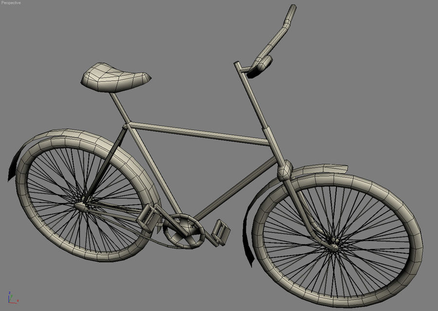 Old bicycle royalty-free 3d model - Preview no. 10