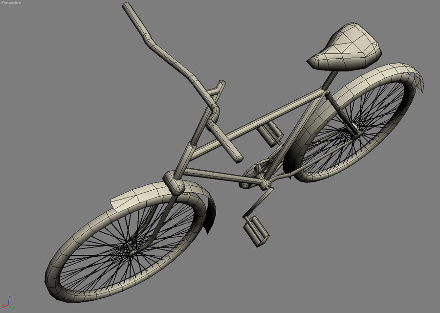 Old bicycle royalty-free 3d model - Preview no. 9