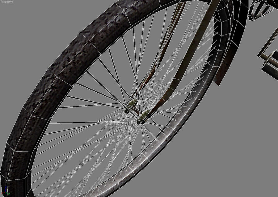 Old bicycle royalty-free 3d model - Preview no. 6