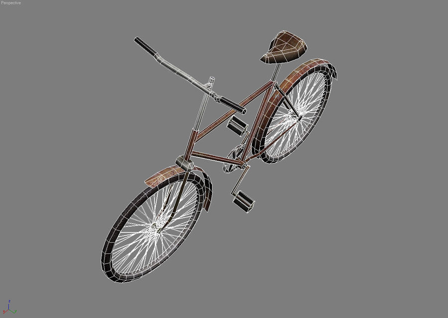 Old bicycle royalty-free 3d model - Preview no. 5