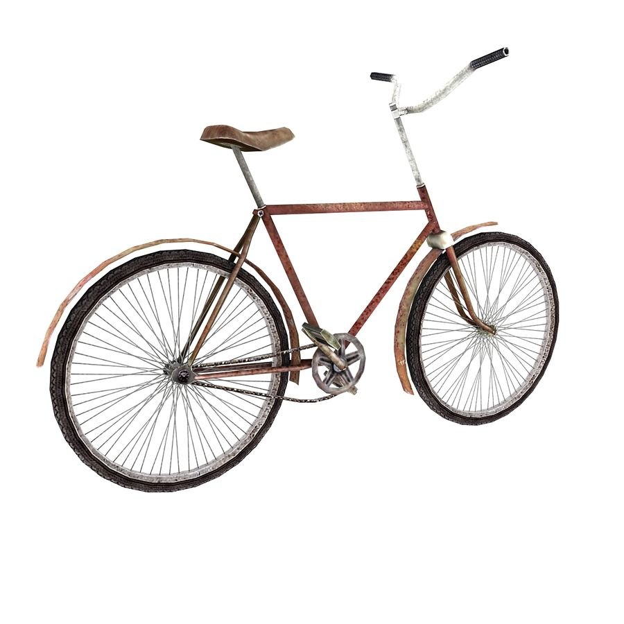Old bicycle royalty-free 3d model - Preview no. 3