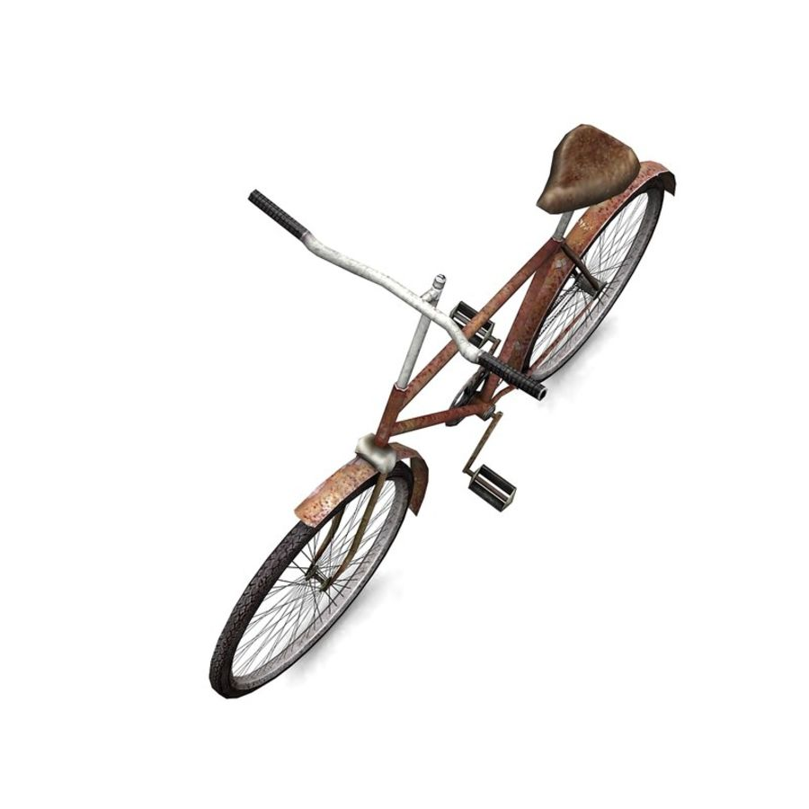 Old bicycle royalty-free 3d model - Preview no. 4
