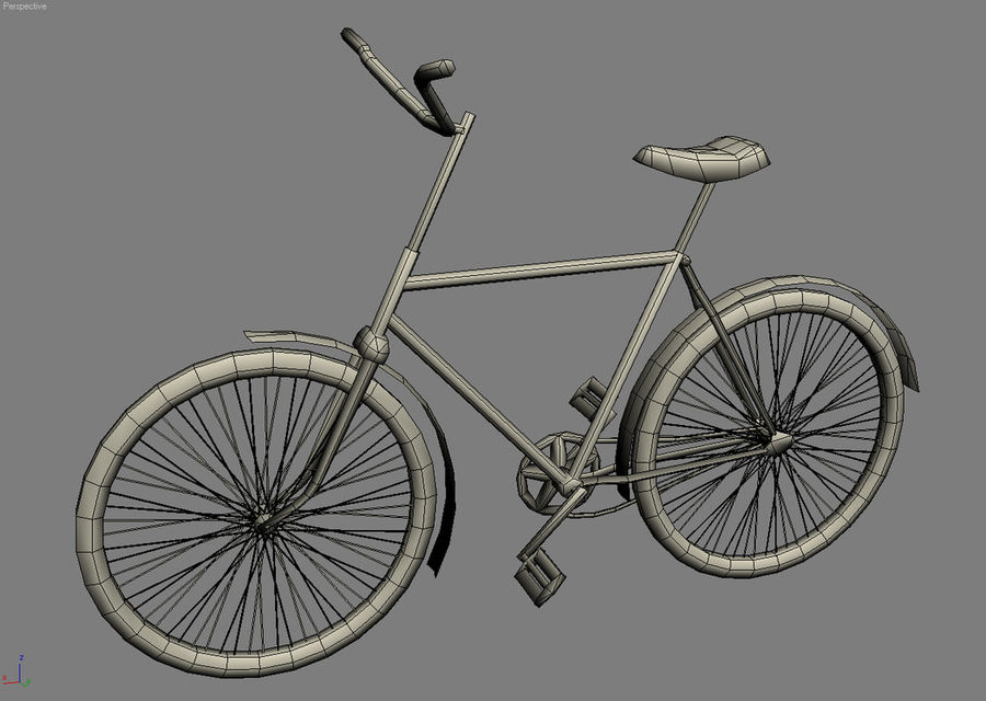 Old bicycle royalty-free 3d model - Preview no. 8