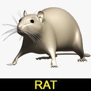 Rata modelo 3d
