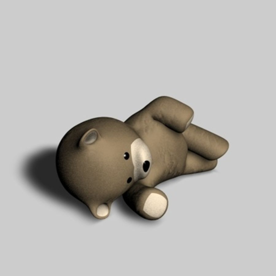Toy Bear royalty-free 3d model - Preview no. 3
