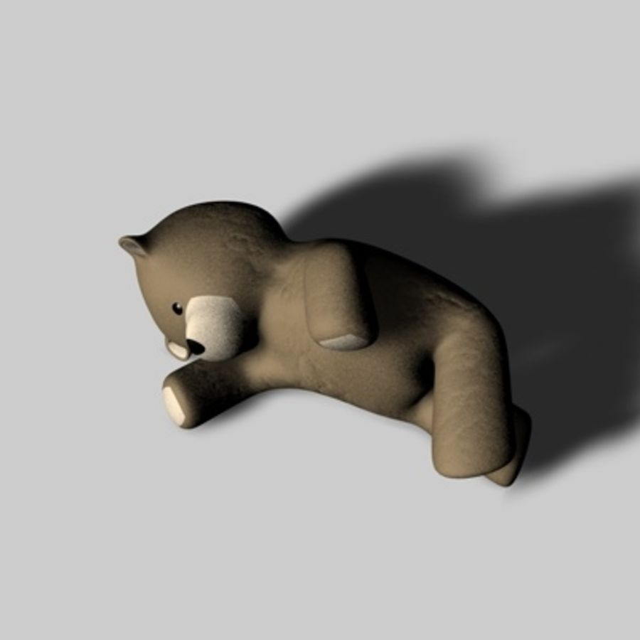 Toy Bear royalty-free 3d model - Preview no. 4