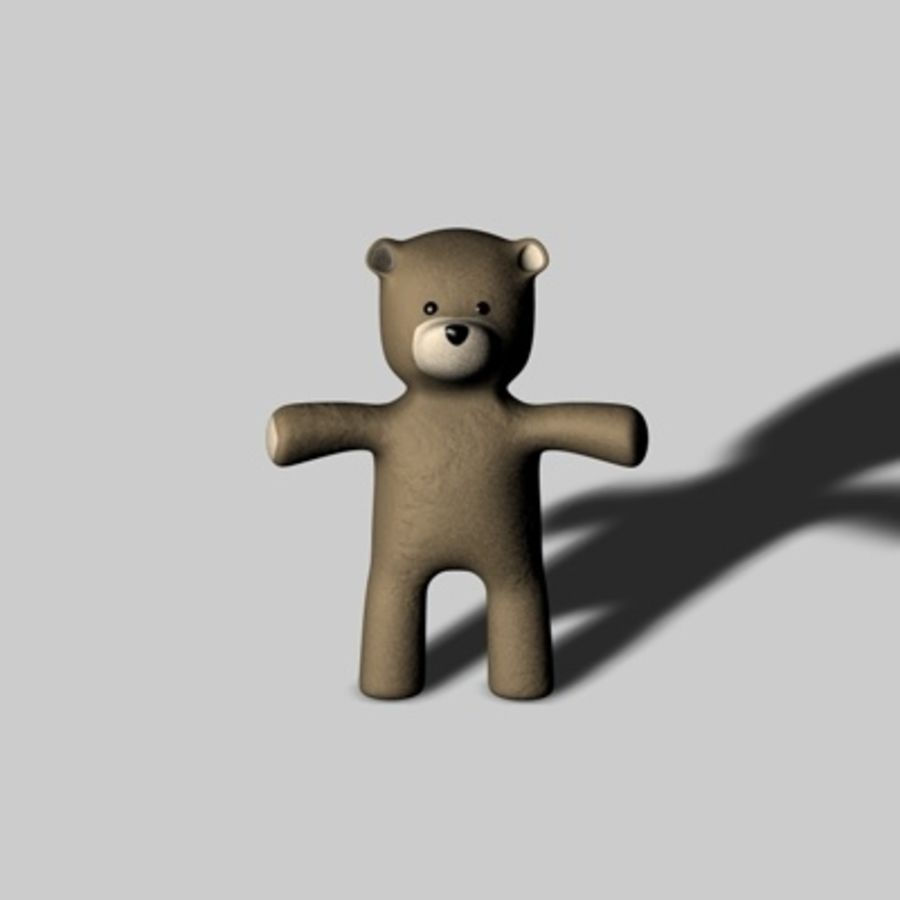 Toy Bear royalty-free 3d model - Preview no. 5
