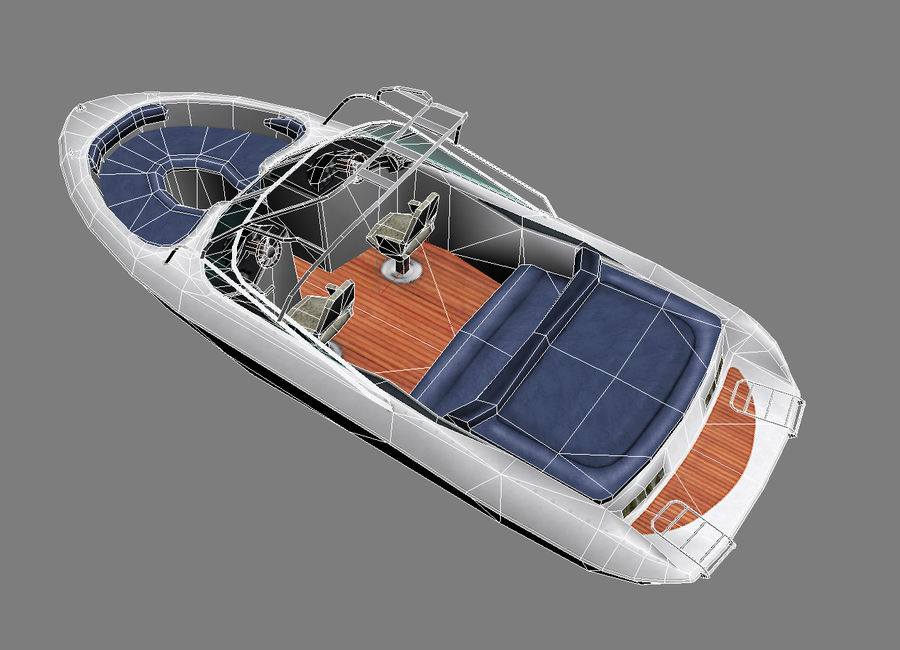 Motor boat royalty-free 3d model - Preview no. 7