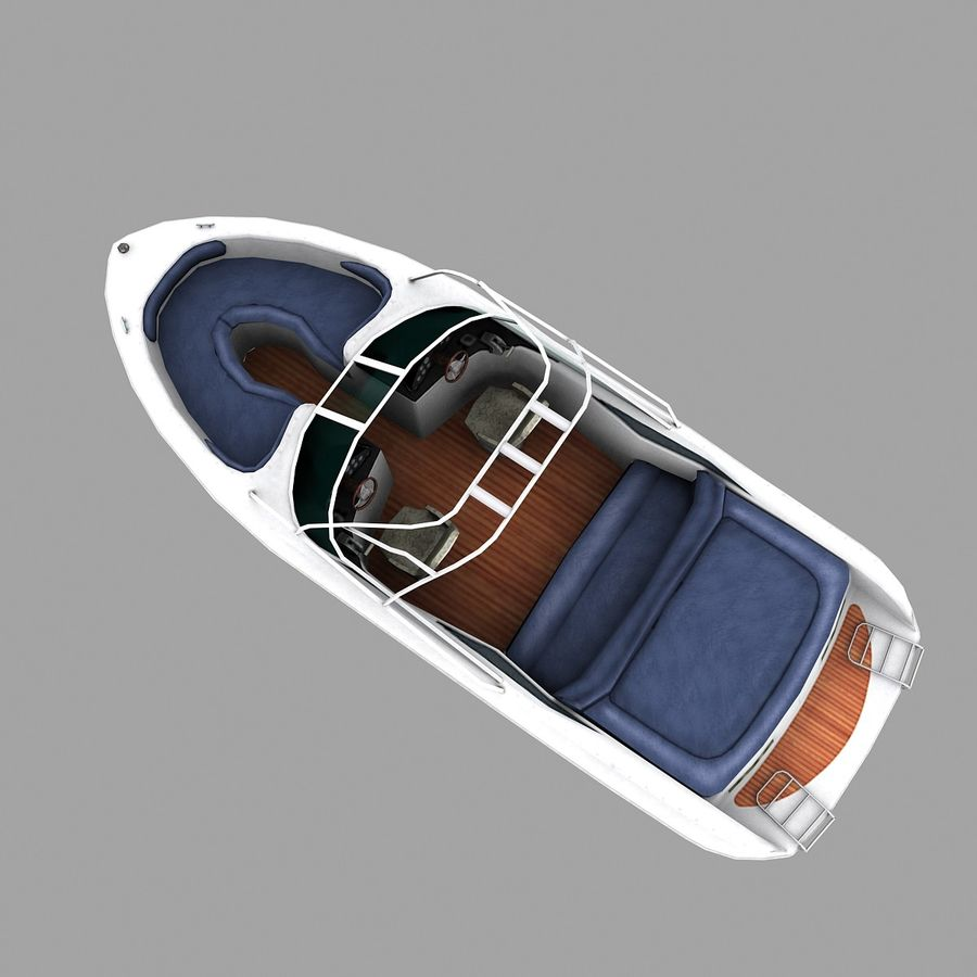 Motor boat royalty-free 3d model - Preview no. 2