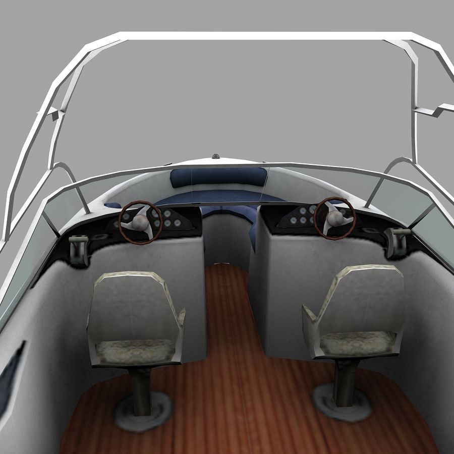 Motor boat royalty-free 3d model - Preview no. 5