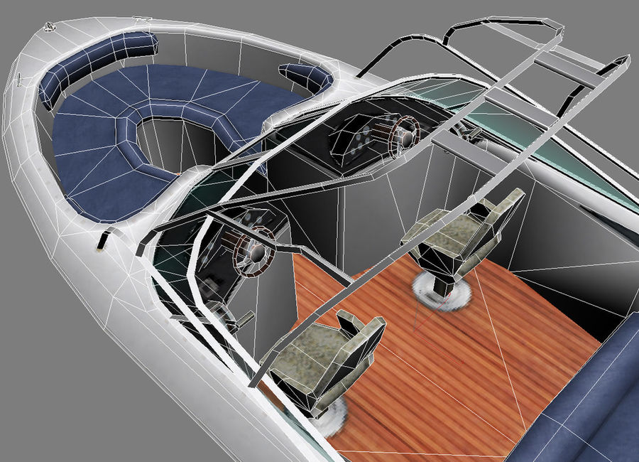 Motor boat royalty-free 3d model - Preview no. 12