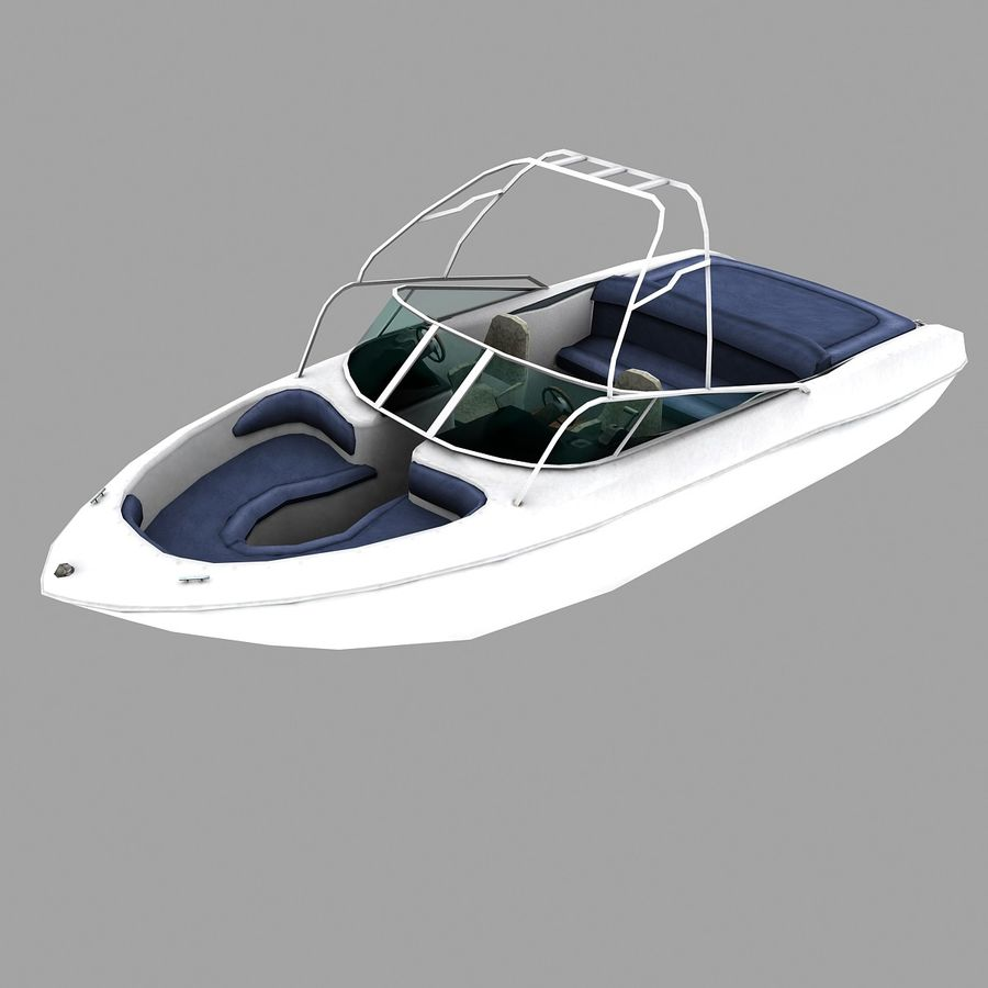 Motor boat royalty-free 3d model - Preview no. 4