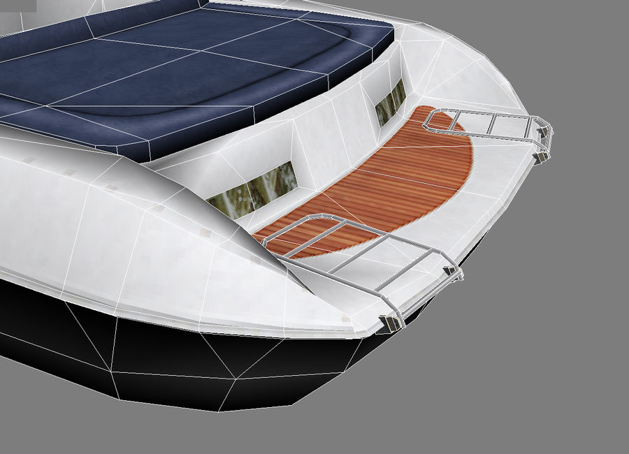 Motor boat royalty-free 3d model - Preview no. 9