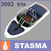 Barca a motore 3d model