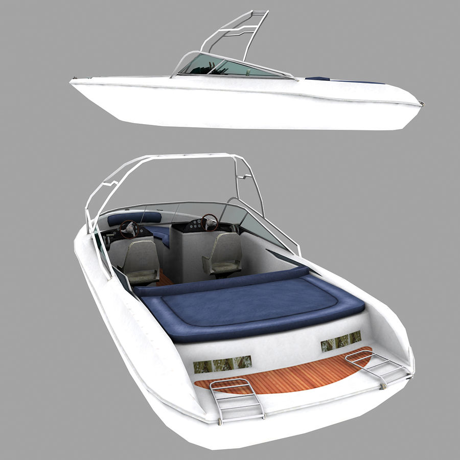 Motor boat royalty-free 3d model - Preview no. 3