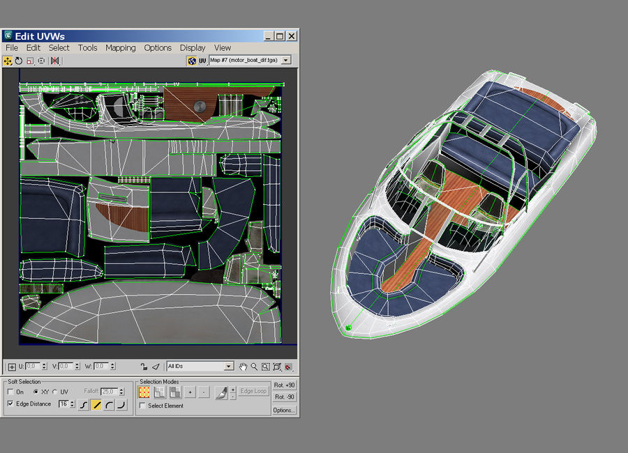 Motor boat royalty-free 3d model - Preview no. 13
