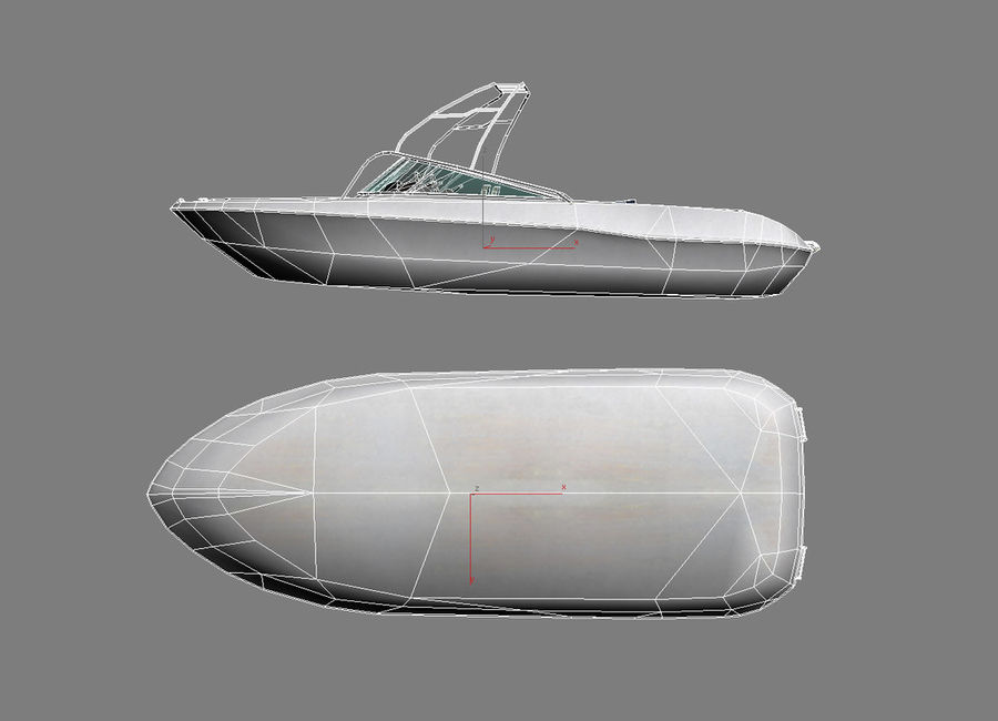 Motor boat royalty-free 3d model - Preview no. 8