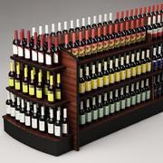 Bottles & shelf_02 3d model