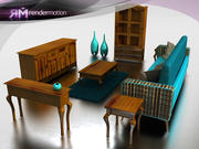 C5_S8_Veracruz Living Room 3d model