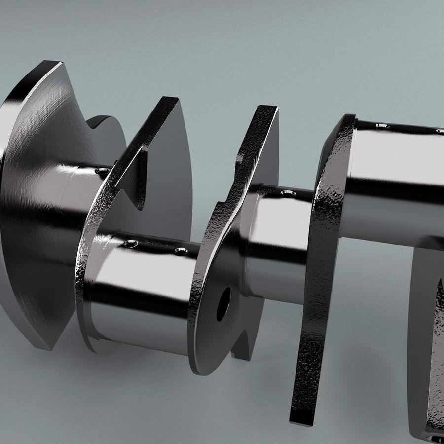 Crankshaft V2 royalty-free 3d model - Preview no. 8