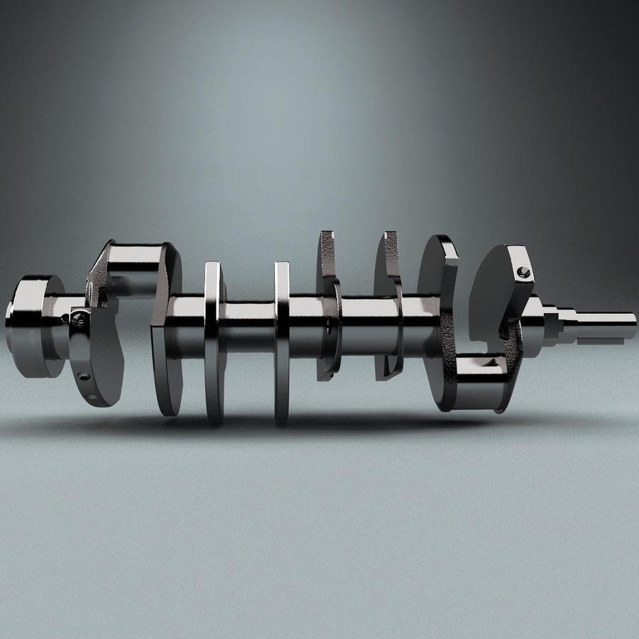 Crankshaft V2 royalty-free 3d model - Preview no. 4