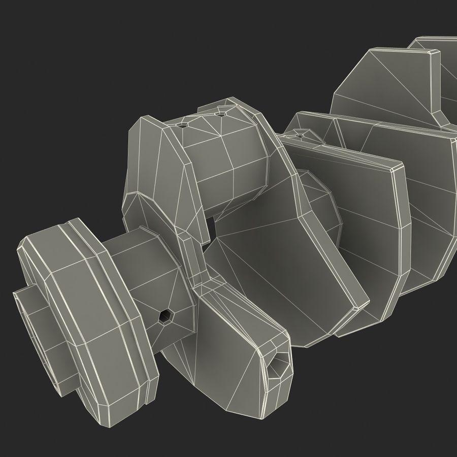 Crankshaft V2 royalty-free 3d model - Preview no. 13