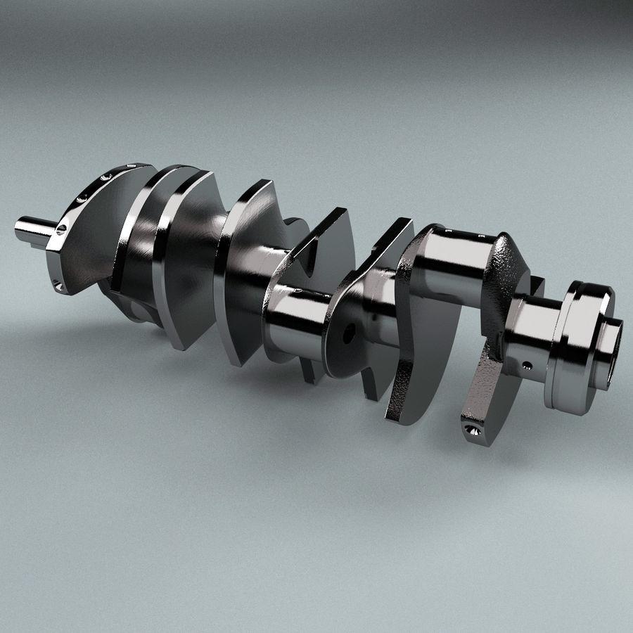 Crankshaft V2 royalty-free 3d model - Preview no. 6