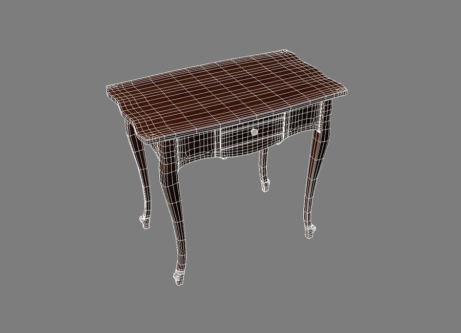 Table small 2 royalty-free 3d model - Preview no. 3