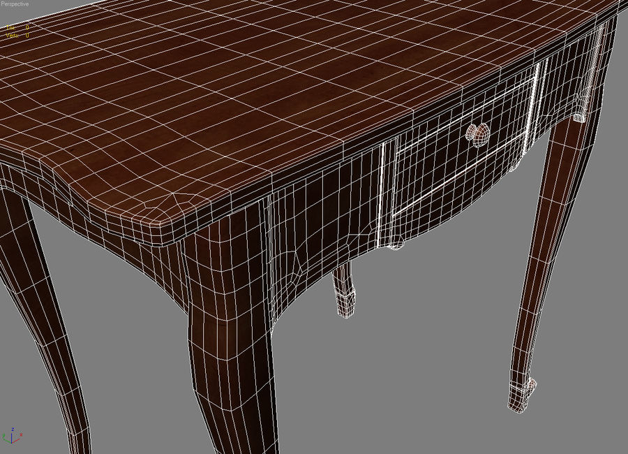 Table small 2 royalty-free 3d model - Preview no. 7