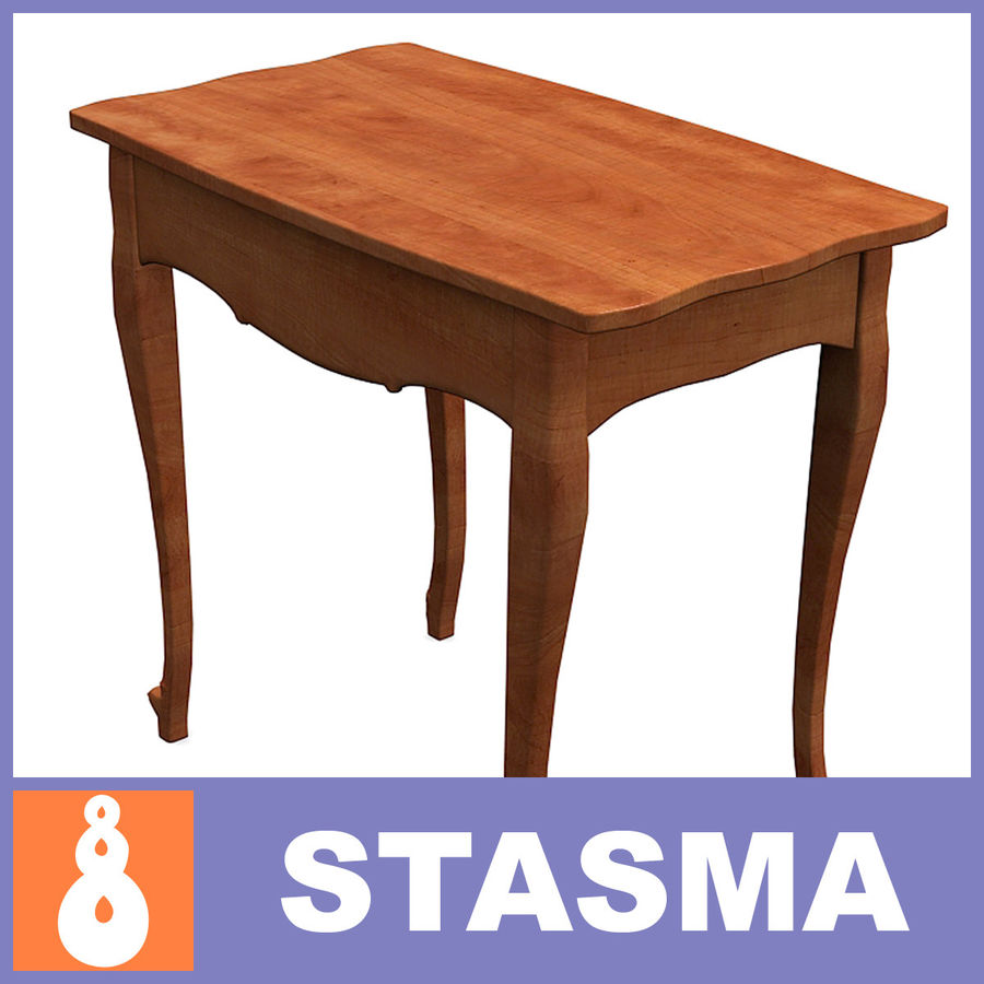 Table small 2 royalty-free 3d model - Preview no. 1