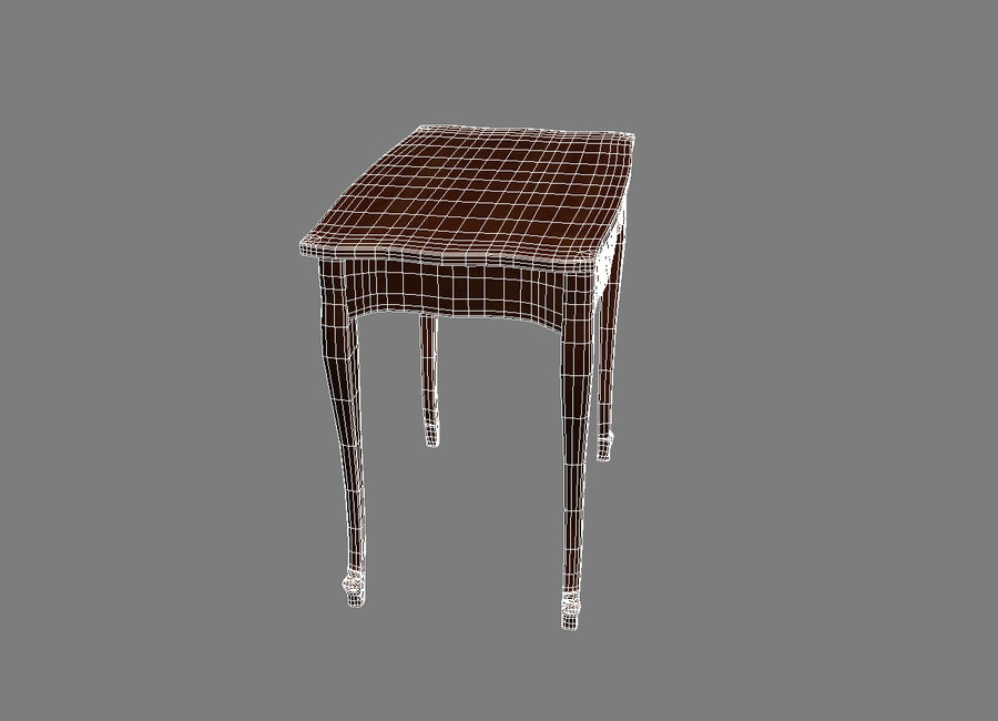 Table small 2 royalty-free 3d model - Preview no. 6