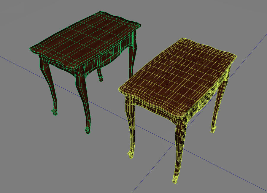 Table small 2 royalty-free 3d model - Preview no. 4