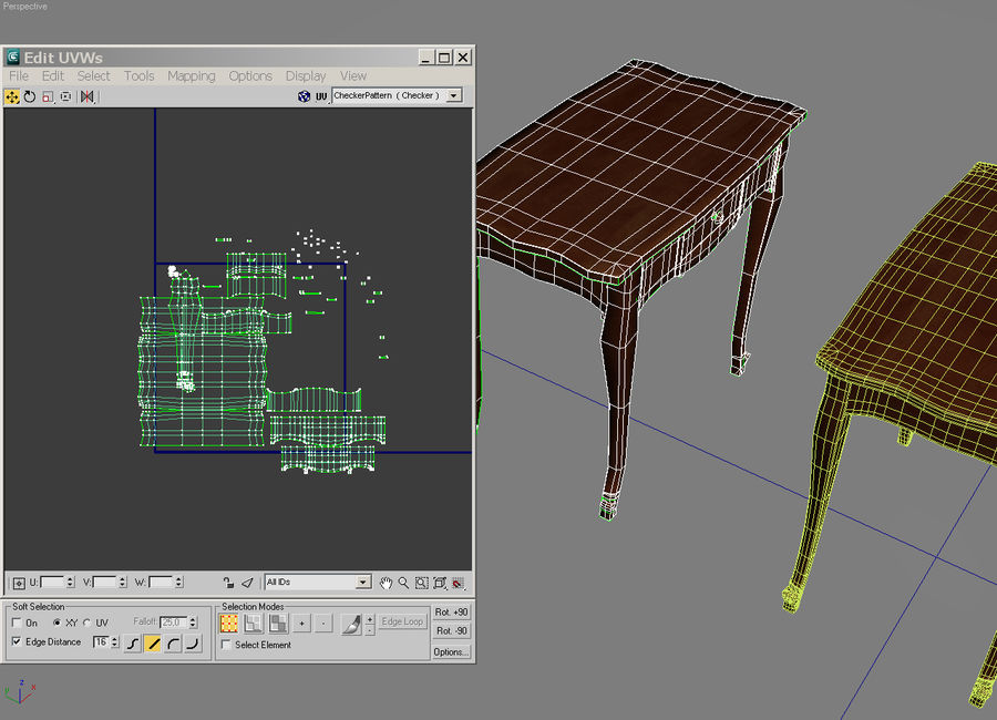 Table small 2 royalty-free 3d model - Preview no. 10