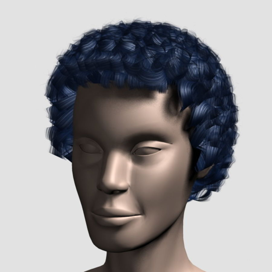 Hair_Mesh_07 royalty-free 3d model - Preview no. 9