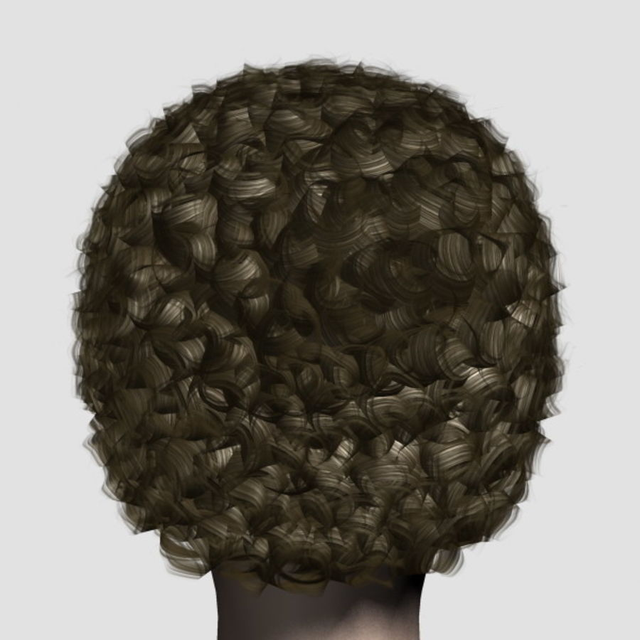 Hair_Mesh_07 royalty-free 3d model - Preview no. 3