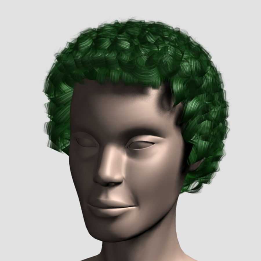 Hair_Mesh_07 royalty-free 3d model - Preview no. 10