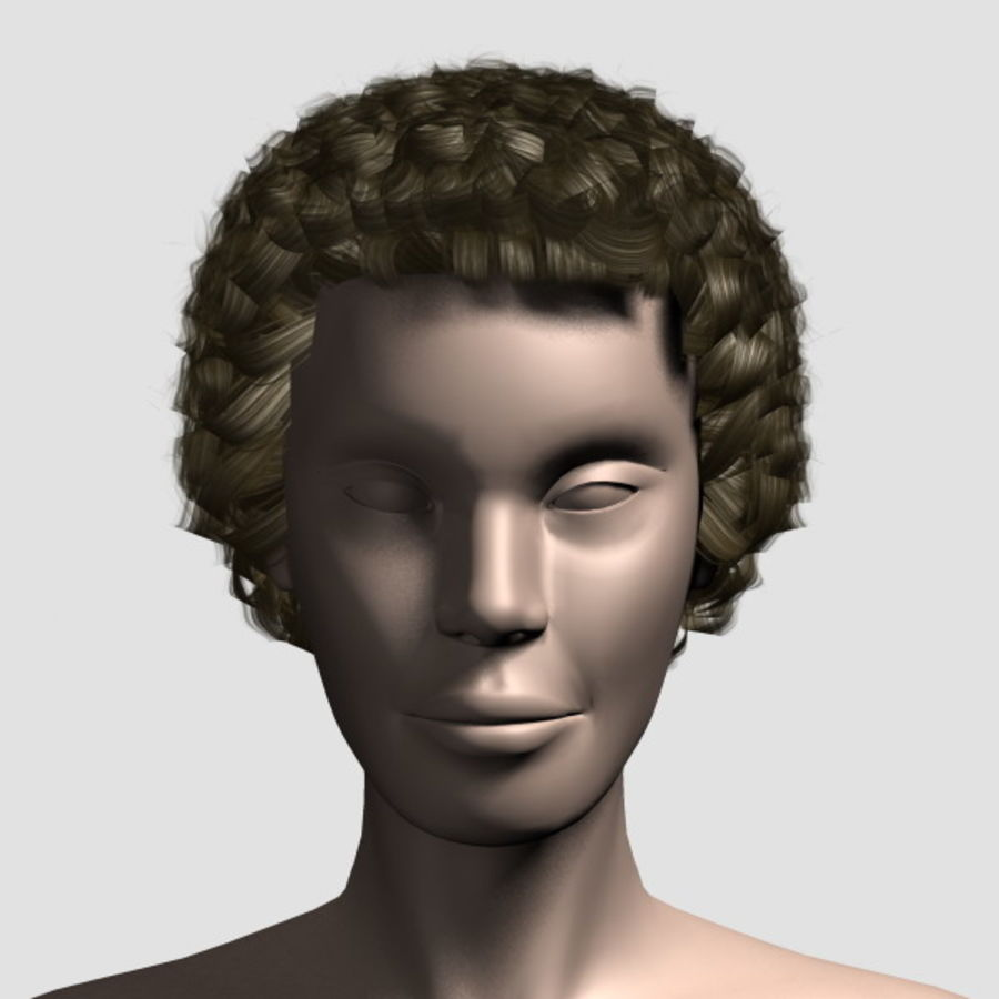 Hair_Mesh_07 royalty-free 3d model - Preview no. 5