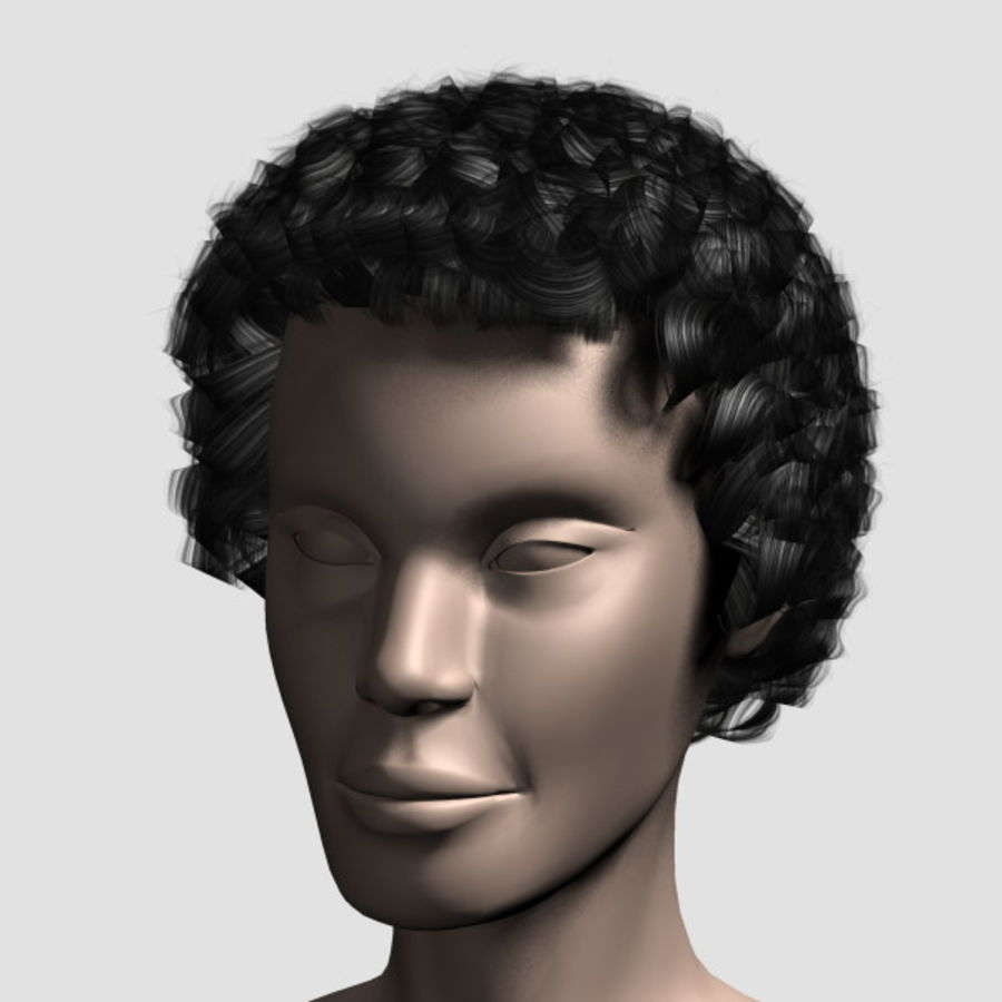 Hair_Mesh_07 royalty-free 3d model - Preview no. 7