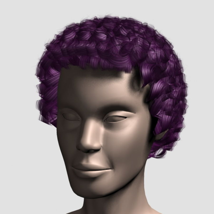 Hair_Mesh_07 royalty-free 3d model - Preview no. 11