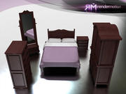 C4_S5_Sonora Bedroom-Hab. Sonora 3d model