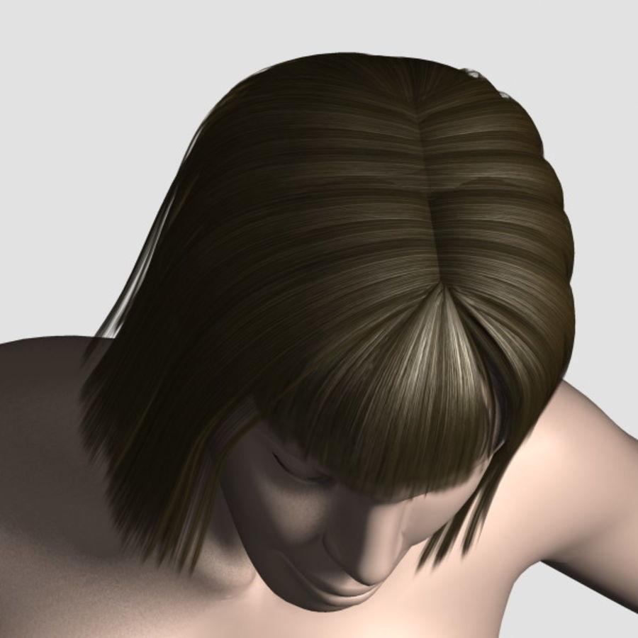 Hair_Mesh_09 royalty-free 3d model - Preview no. 6