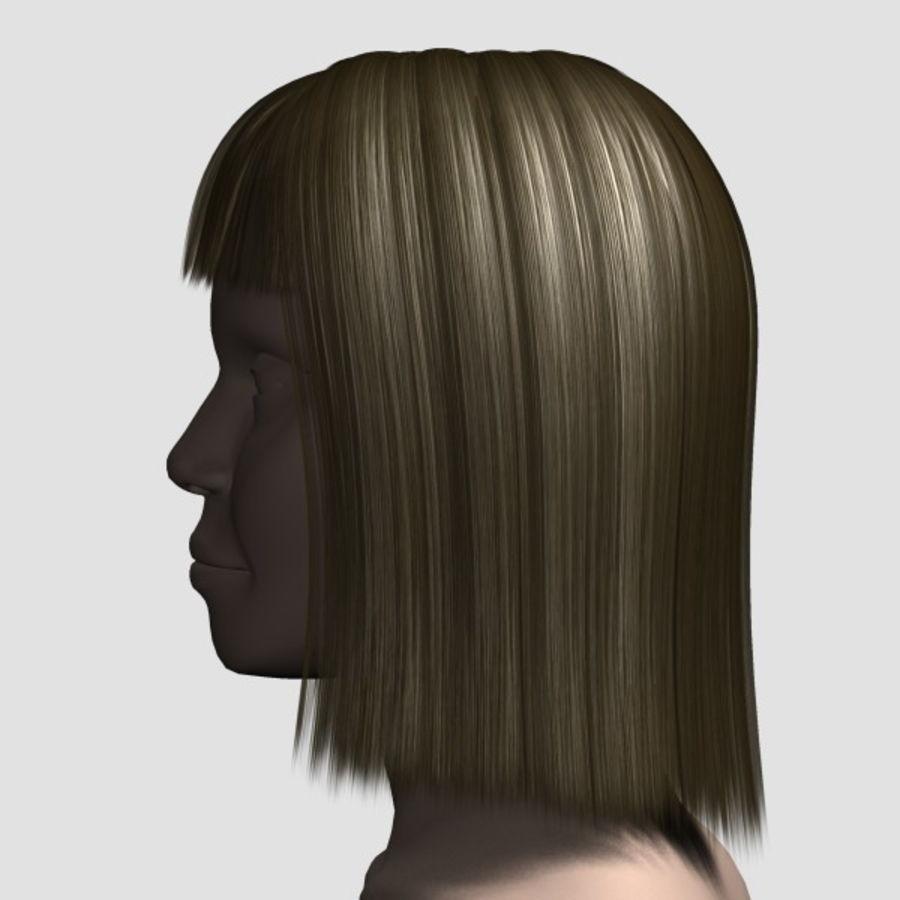 Hair_Mesh_09 royalty-free 3d model - Preview no. 2