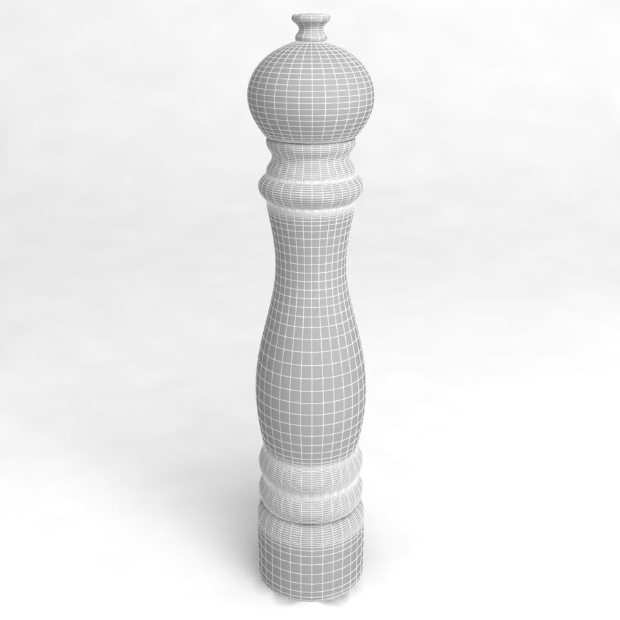 Pepper Shaker_03 royalty-free 3d model - Preview no. 4