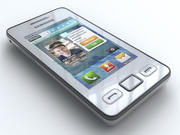 Samsung Star II S5260 3d model