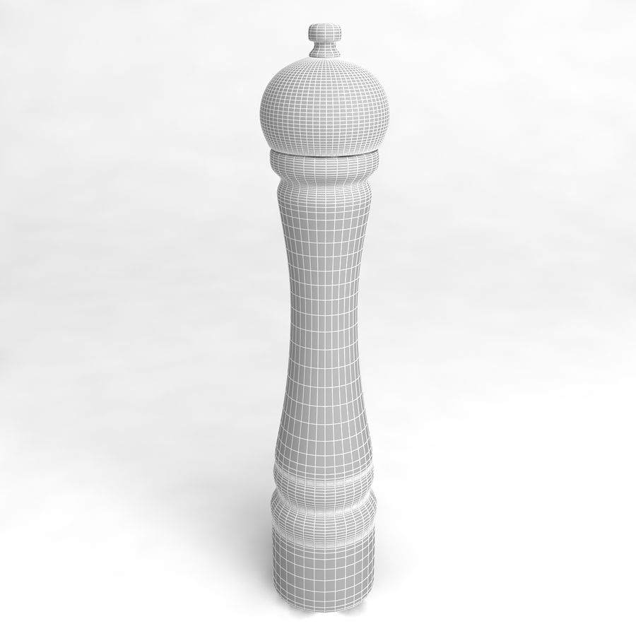 Pepper Shaker_04 royalty-free 3d model - Preview no. 4