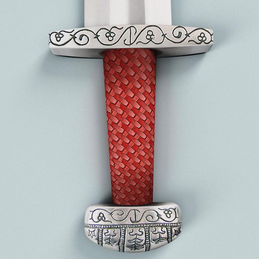 Viking Sword royalty-free 3d model - Preview no. 8