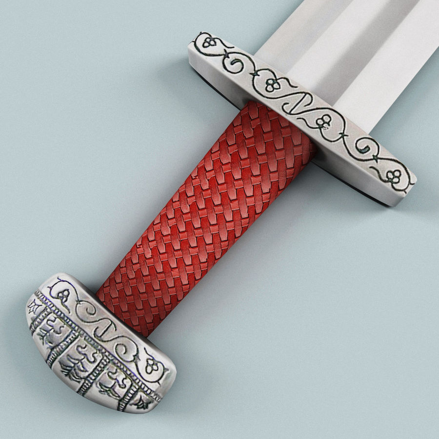 Viking Sword royalty-free 3d model - Preview no. 7