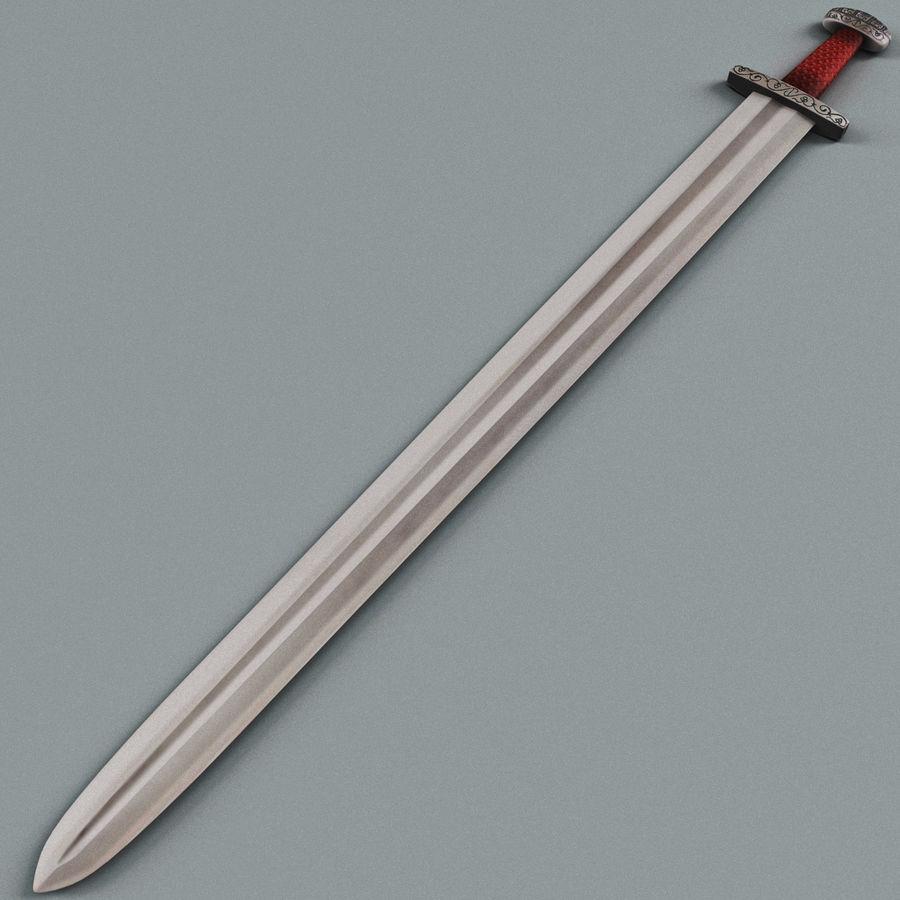 Viking Sword royalty-free 3d model - Preview no. 3