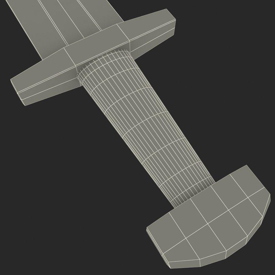 Viking Sword royalty-free 3d model - Preview no. 12